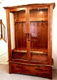 Hand Crafted Mesquite & Cherry Gun Cabinet by Louis Fry ...