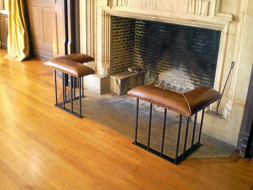 Hand Made Old English Fireplace Bench Corner Set Model