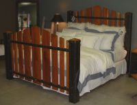 Custom King Size Iron And Cherry Wood Bed The Majestic by ...