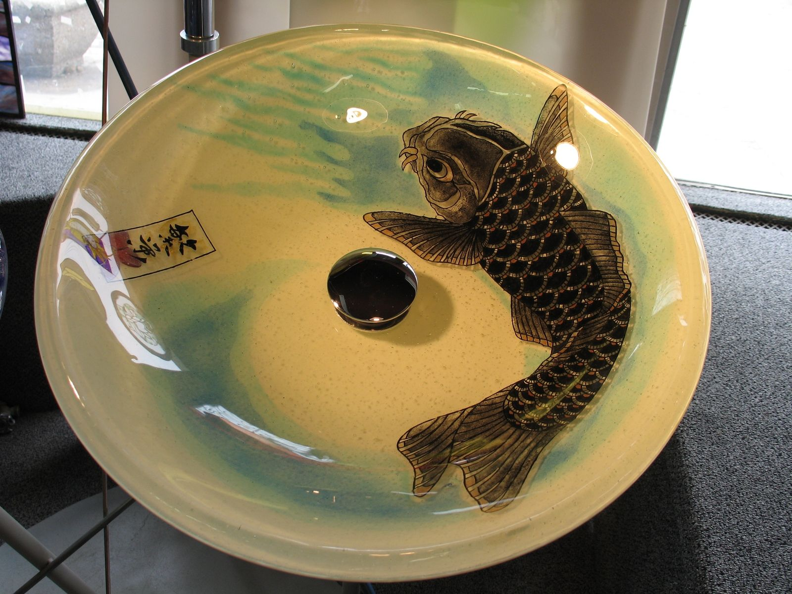 Hand Made Fused Glass Vessel Sink by Prairie Studio Glass  CustomMadecom