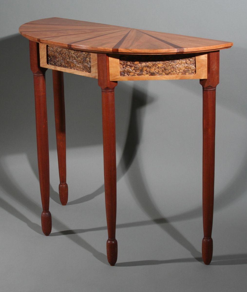 Custom Made Demilune Table by Warburton Woods  CustomMadecom
