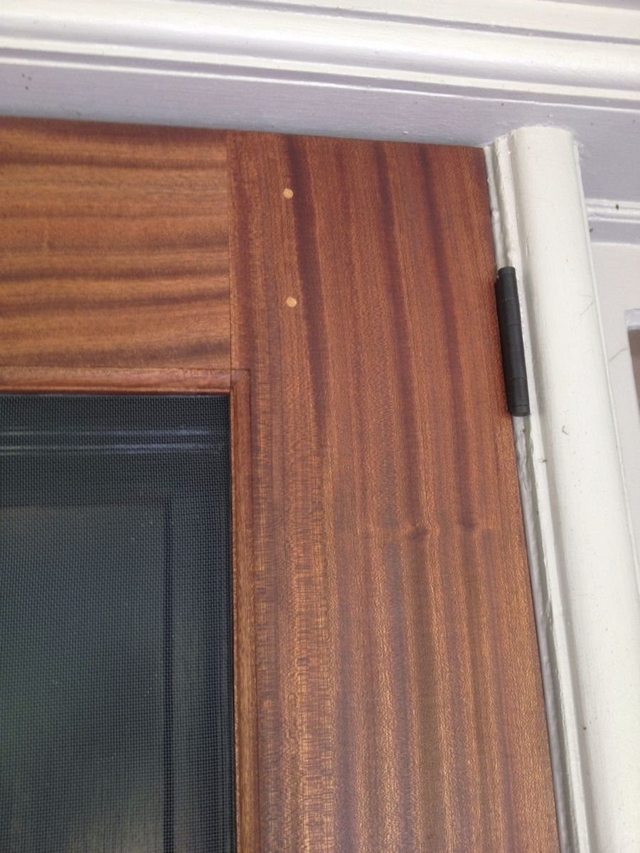 Custom Sapele ScreenStorm Door By The Philadelphia