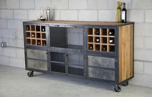 Buy A Hand Crafted Reclaimed Wood Liquor Cabinet Bar