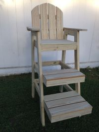 Buy a Hand Made Tall Beach Chair/Life Guard Chair, made to ...