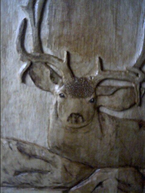 Custom Mule Deer Relief Carving by Toms Wood Art  CustomMadecom