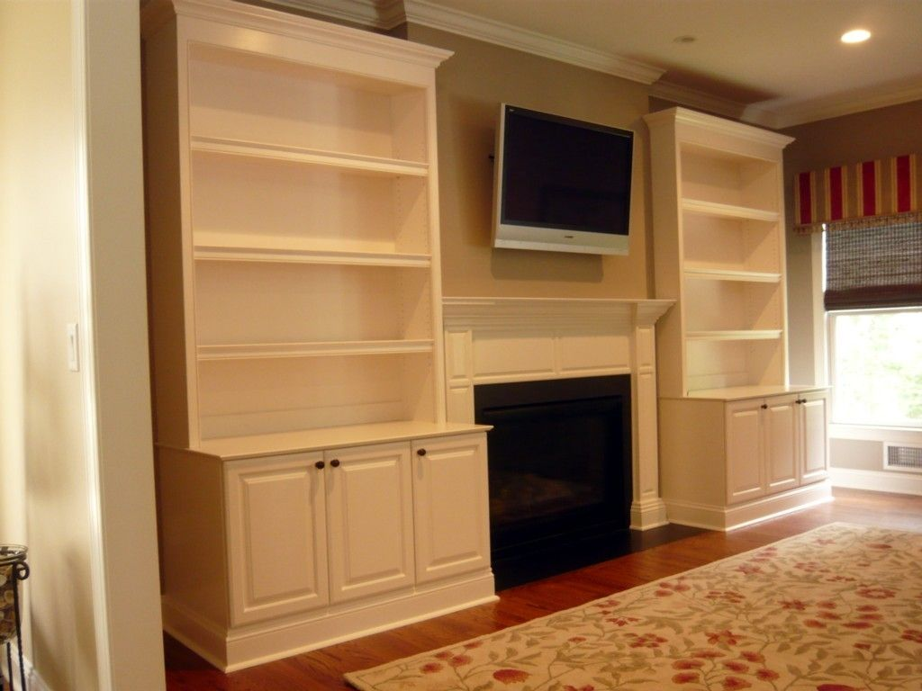 Hand Crafted Traditional Painted Fireplace Built-Ins By