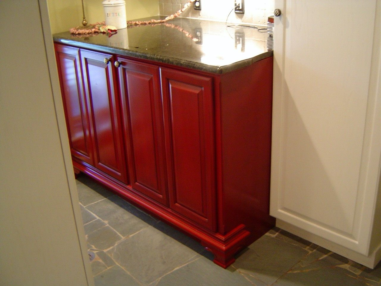 Custom Washer And Dryer Cabinet by Parkers Custom