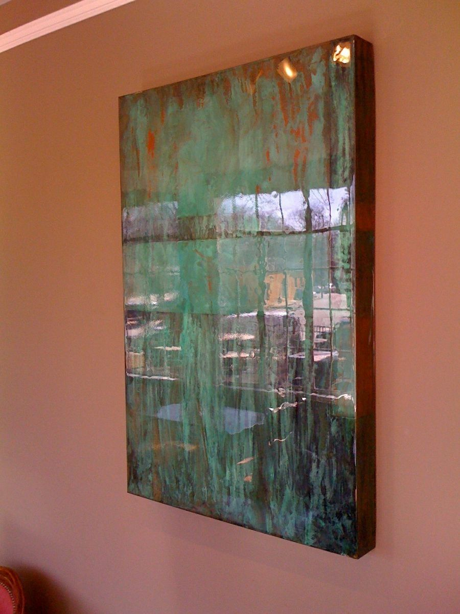 Custom Made Copper Art Wall Piece With Super Wet