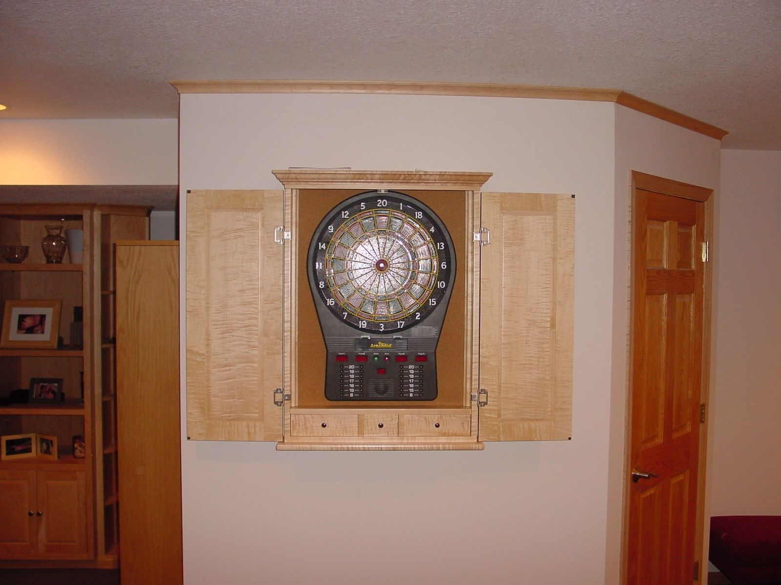 Custom Made Maple Dart Board Cabinets By BBG Woodworks