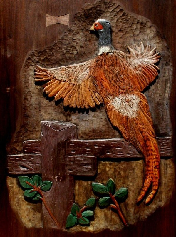 Hand Crafted Wildlife Relief Carving  Birds by Artisans