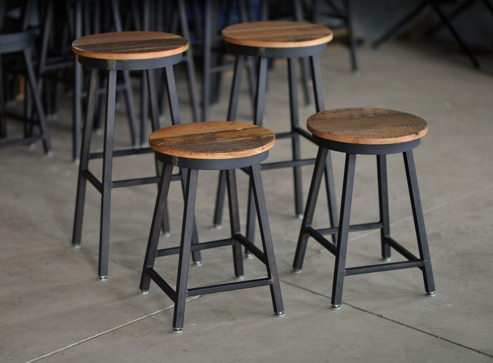 Buy Hand Made Reclaimed Barnboard  Custom Raw Steel Bar