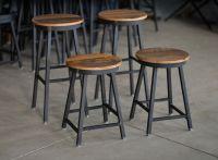 Buy Hand Made Reclaimed Barnboard & Custom Raw Steel Bar ...