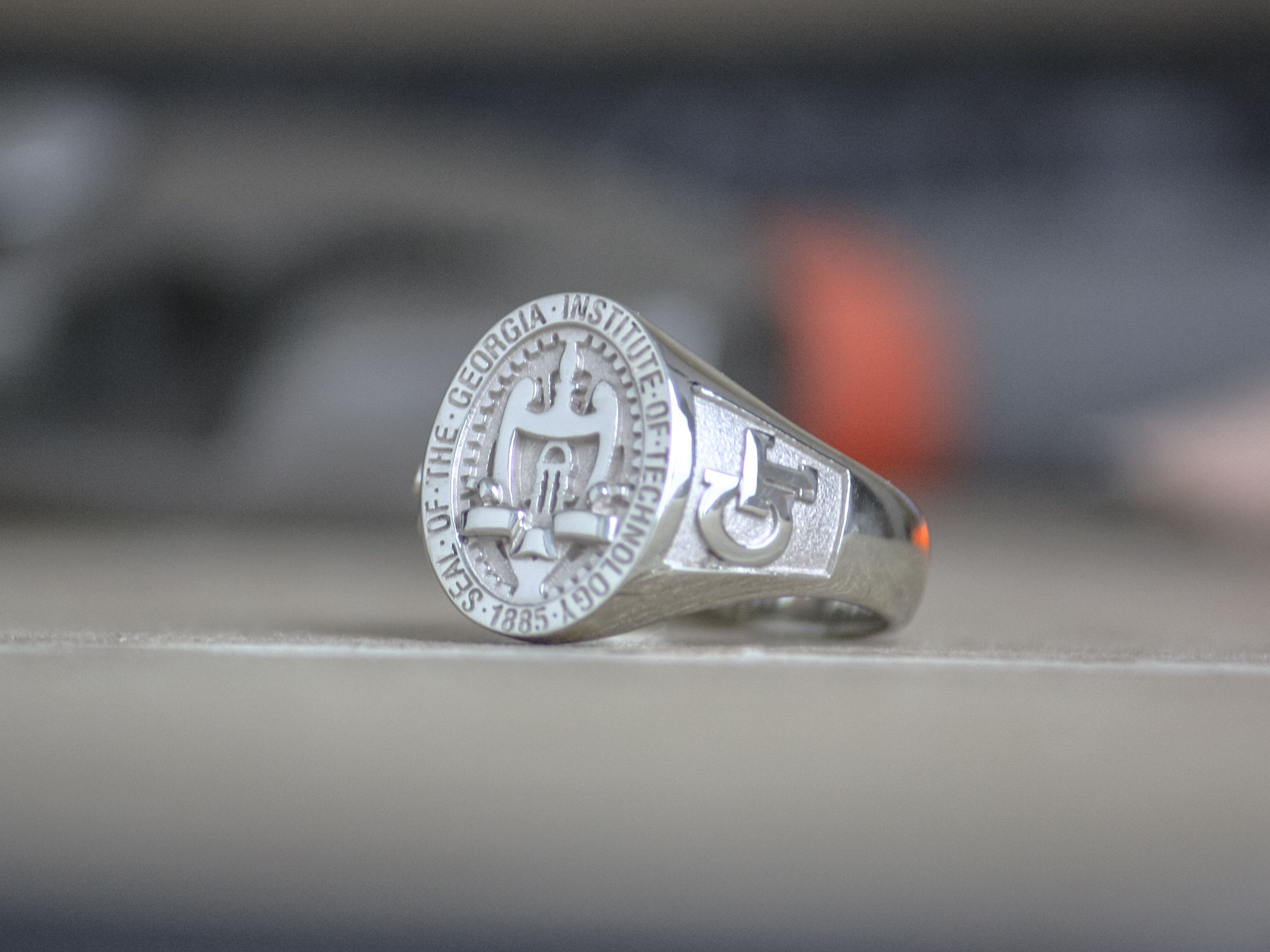 Buy a Handmade 10k Gold Round Signet  Class Ring made to