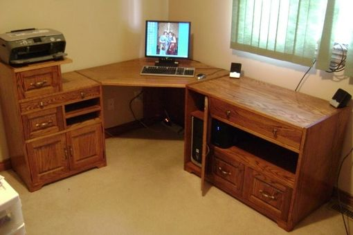 Handmade Computer Desk by Fine Root Woodworking