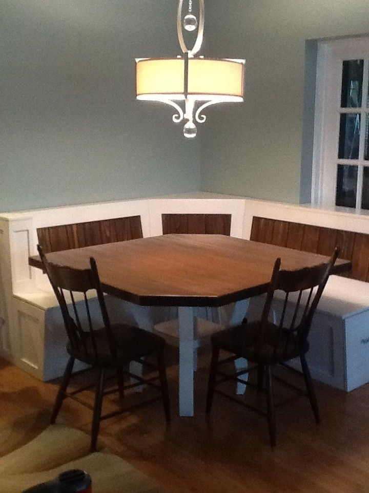 Custom Breakfast Nook With Maple Table By Baltic