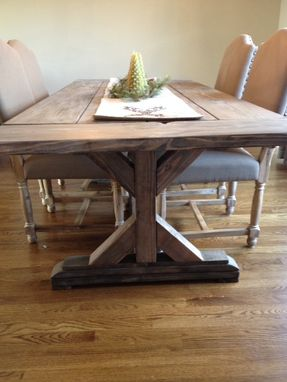 Buy a Hand Crafted Fancy X Farmhouse Table With Extensions