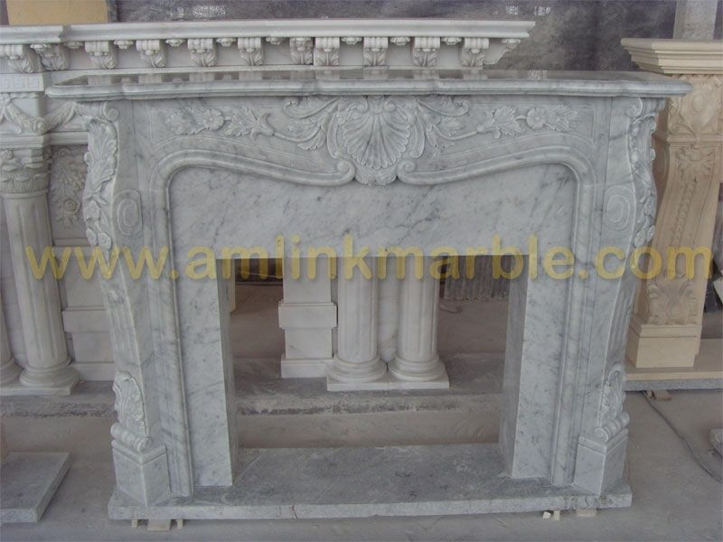 Handmade Stone Fireplaces Marble Travertine Fireplace Surround by Amlink Marble  CustomMadecom