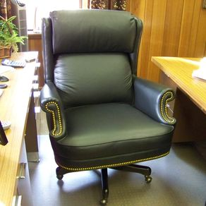 wooden leather desk chair bonded custom chairs custommade com built for an execitive office by ashley cunningham