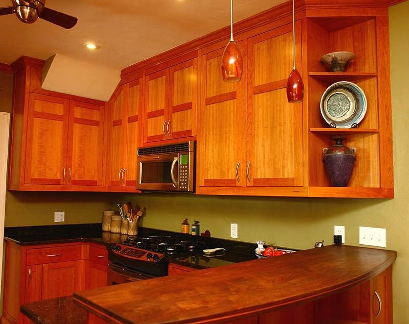 kitchen cabinets st petersburg wood and stainless steel island custom made shaker style in cherry by mckenzie ...