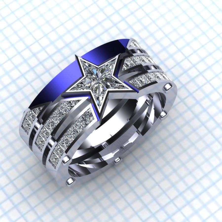 Buy Handmade Captain Americas Team Ring Ladies Made To