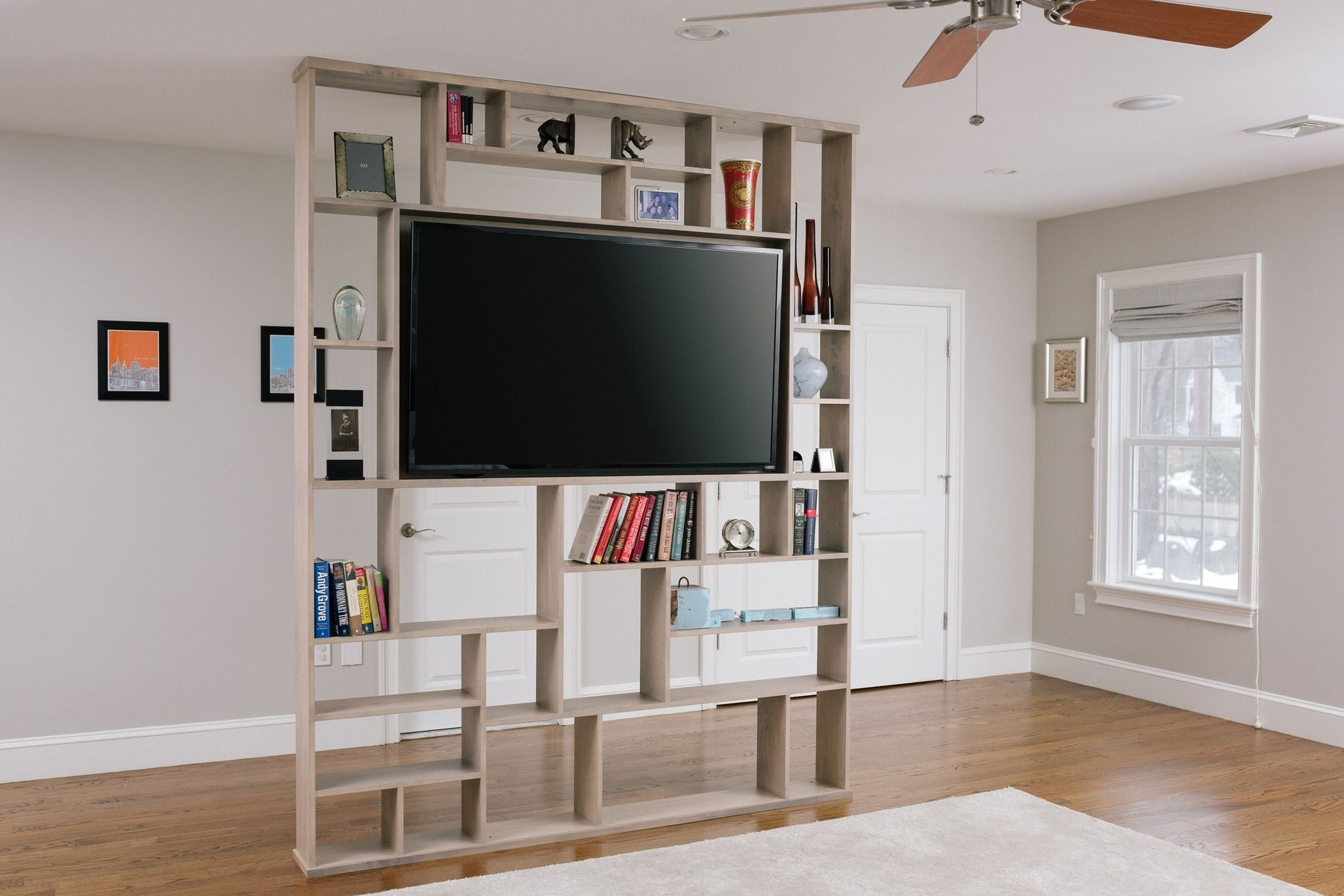 Hand Crafted Lexington Room Divider / Bookshelf / Tv Stand