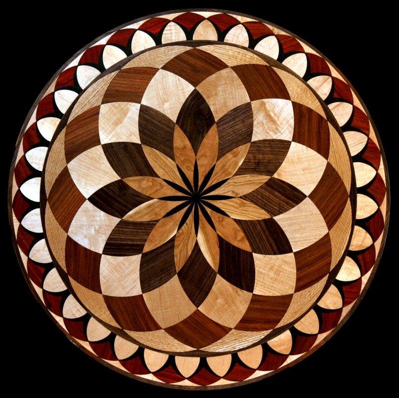 Stone Inlay In Wood Floor