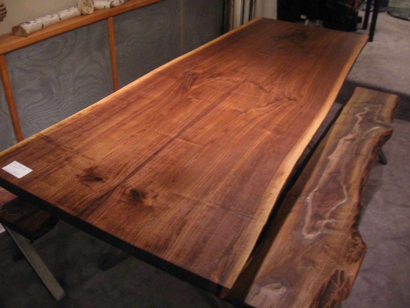 Handmade Walnut Live Edge Slab X Base Table By Woodrich