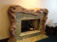 Custom Hand Carved Fire Surround/Mantle by Wood Carving ...