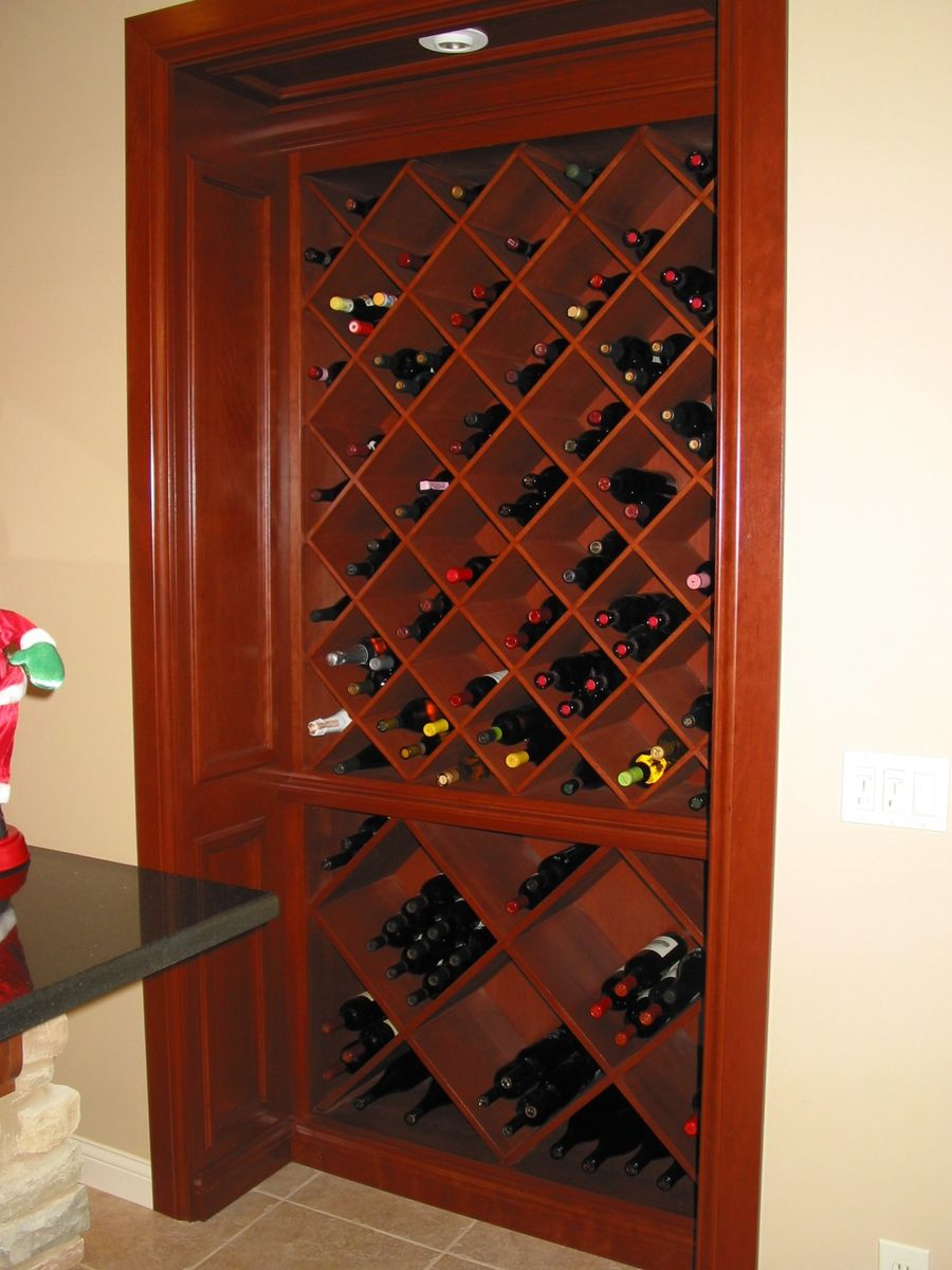 Custom Cherry BuiltIn Wine Cabinet by Haas Distinctive