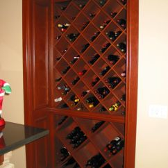 Kitchen Cabinet Makers Brown Jordan Outdoor Kitchens Custom Cherry Built-in Wine By Haas Distinctive ...