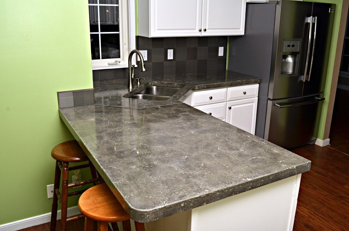 concrete kitchen countertops small cabinet ideas custom made by formed stone