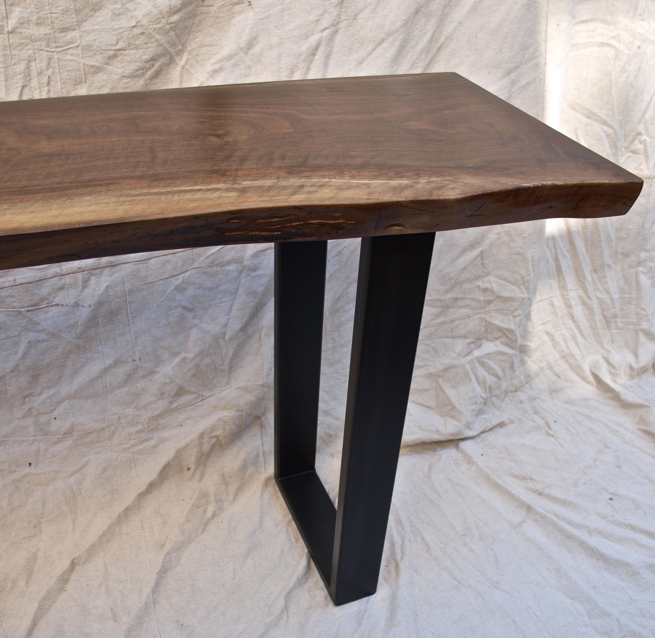 Custom Made Live Edge Walnut Console Table By WITNESS TREE