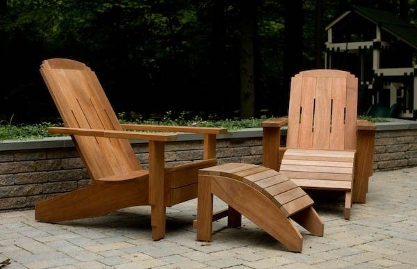 modern style adirondack chairs hudson swoop chair custom craftsman ottoman of mahogany by made