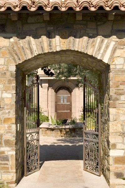 Handmade Wrought Iron Entry Gate 15th Century Italian