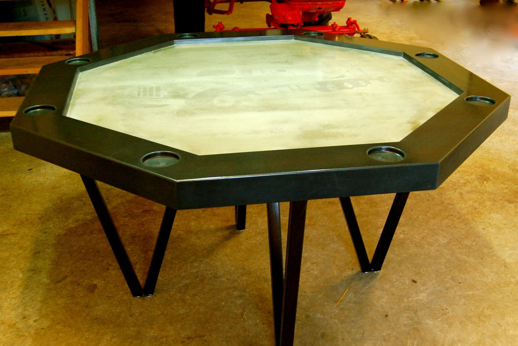 Handmade Concrete Poker Table By Agitated Aggregate