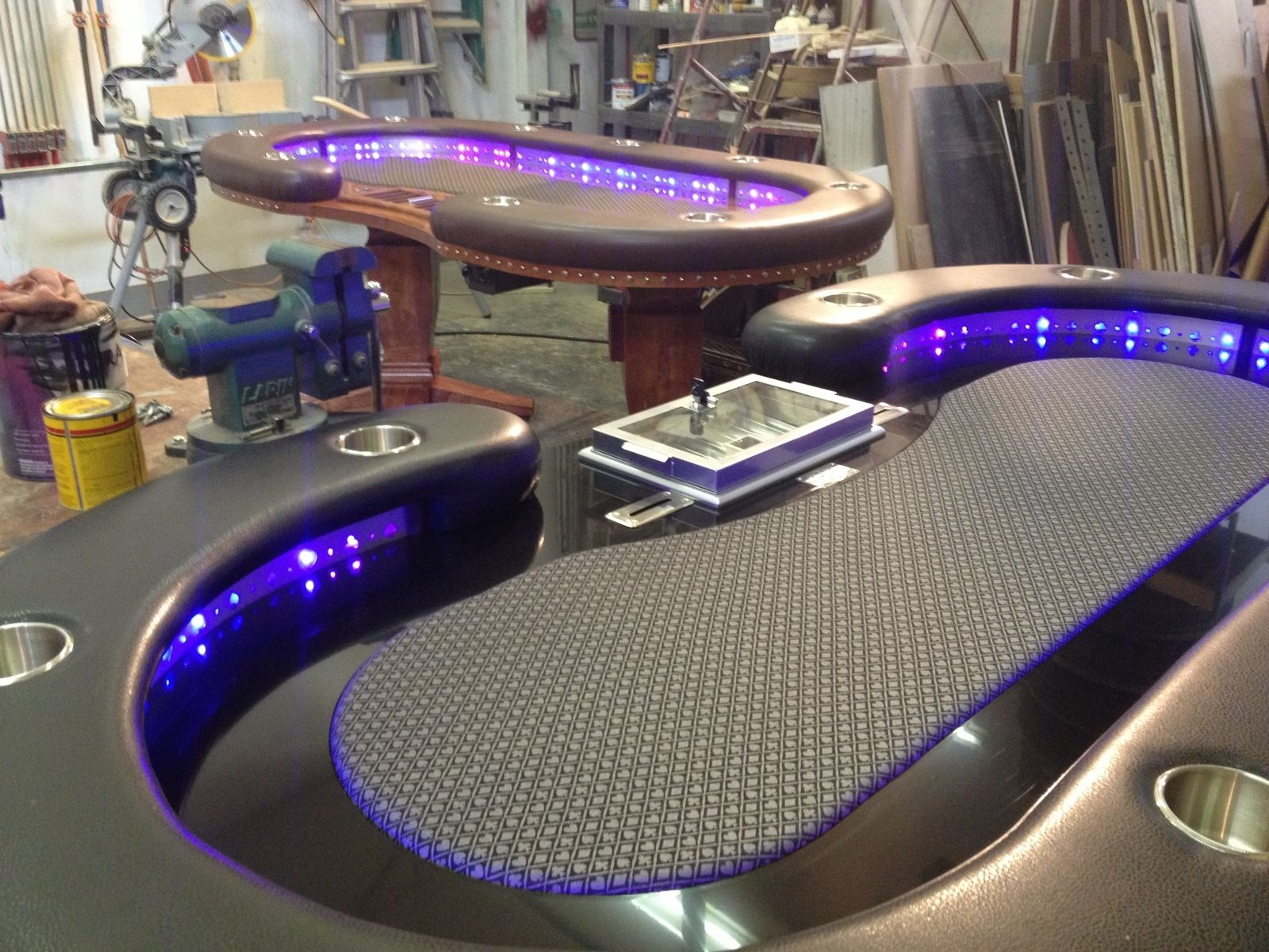 Hand Crafted Poker Tables by Raw Creations Cnc  CustomMadecom