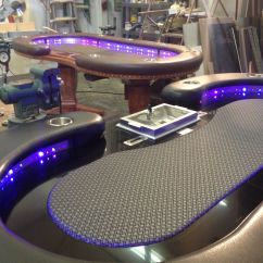 Custom Gaming Chairs Office Massage Chair Hand Crafted Poker Tables By Raw Creations Cnc