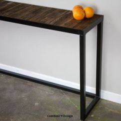 Sofa Console Tables Wood High Back Sofas Living Room Custom And Artisan Designed Handcrafted Table Steel Reclaimed Modern Urban Vintage