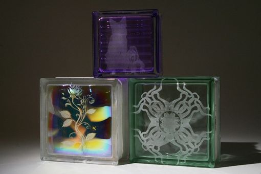 Hand Made Custom Etched Glass Block Murals by Columbus Glass Block  CustomMadecom