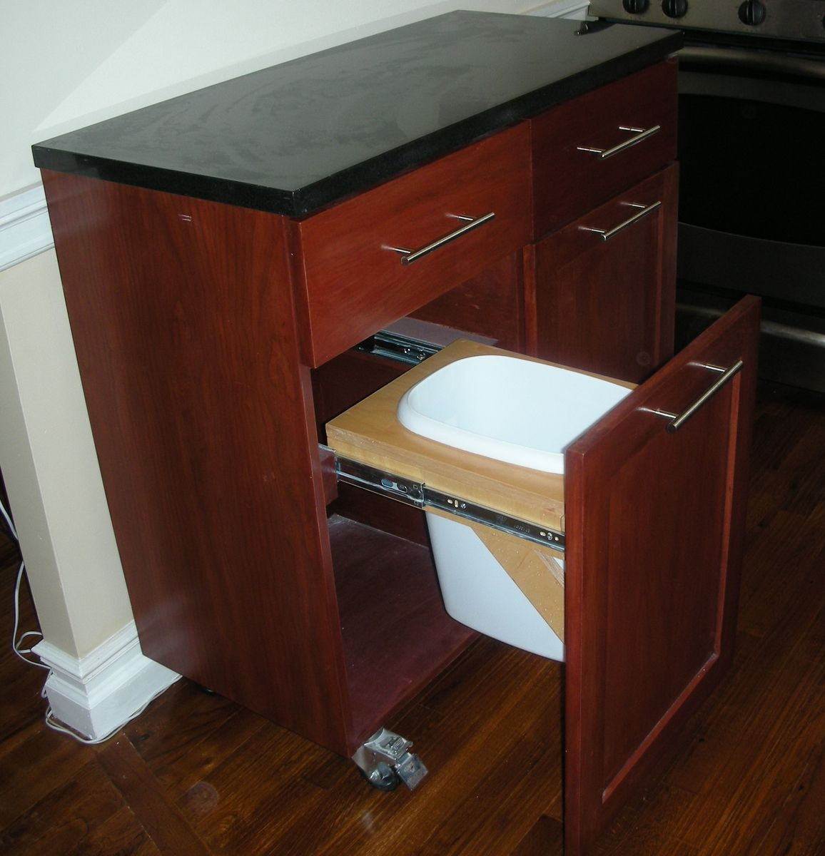 Hand Crafted Mobile Kitchen Island by Hammer Time Studios