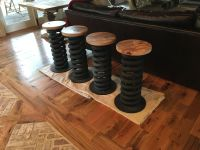 Buy Custom Truck Coil Spring Bar Stools, made to order ...