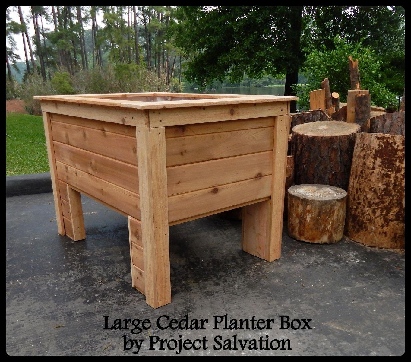 Raised Cedar Planter Box Plans