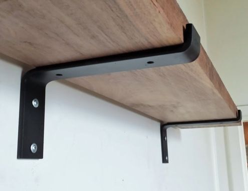 Custom Made 10quot Industrial Light Load Shelf Bracket Black