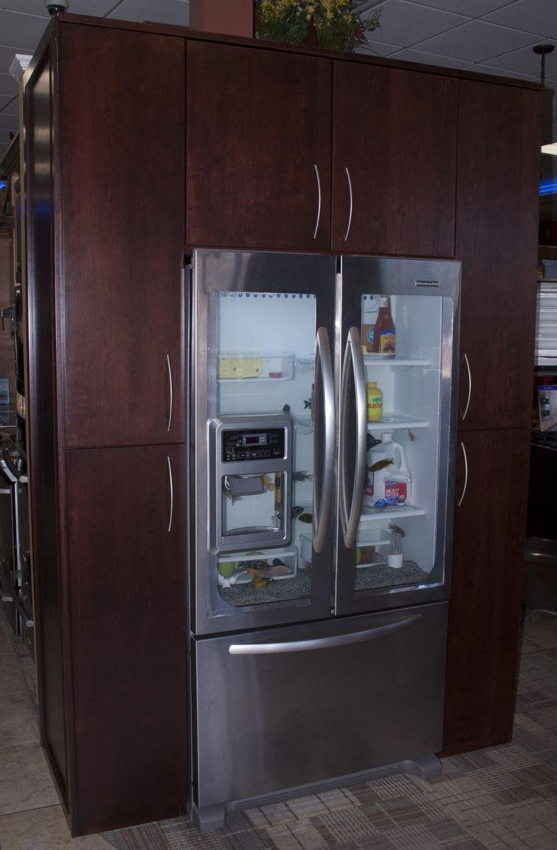 Handmade Custom Refrigerator Fish Tank Surround By