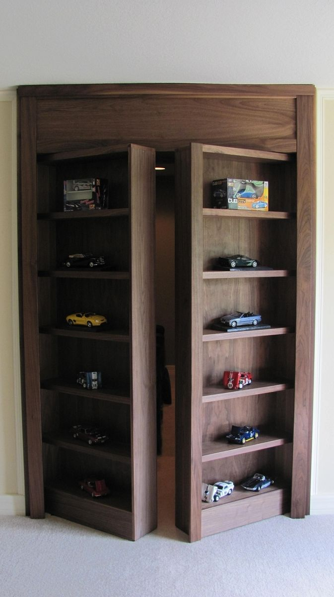 Custom Display Case With Secret Doorway To Hidden Room by