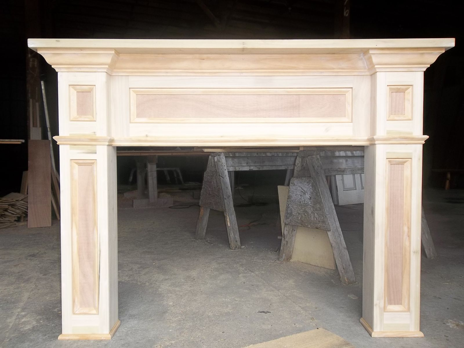 Custom Made Paint Grade Fireplace Mantel Surround by Old Southern Heirloom  CustomMadecom