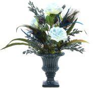 Handmade Silk Flower Arrangement | Home Office Decor ...