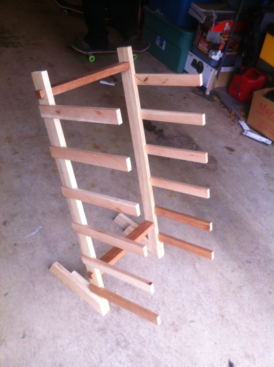 Hand Made Skateboard Rack By Moose Time Design