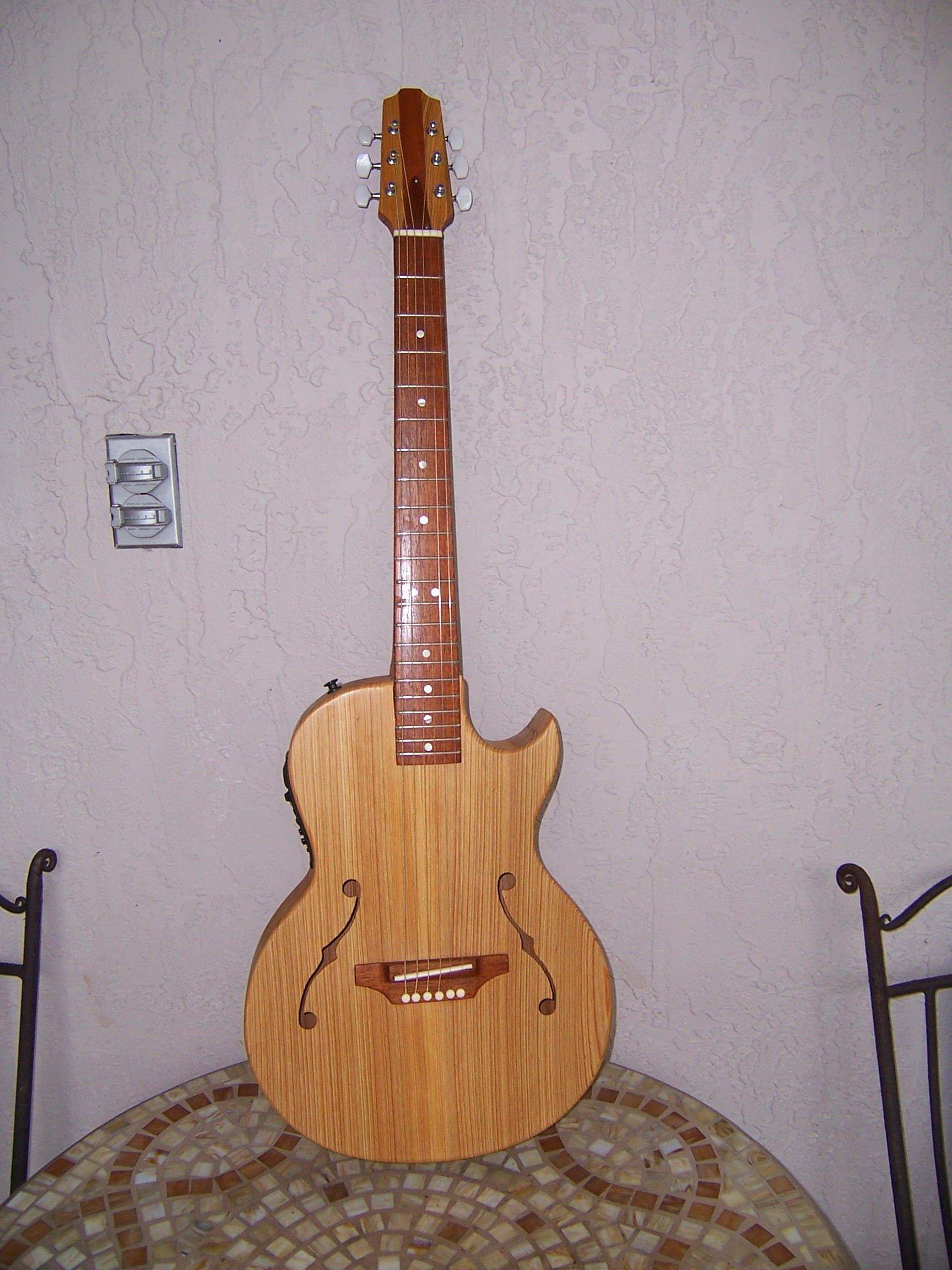 Custom AcousticElectric Jazz Hollow Body Guitar By GS