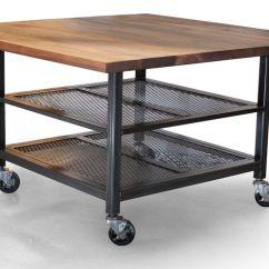 Metal Kitchen Island Cabinets Albuquerque Hand Crafted Custom Walnut Steel Made Industrial